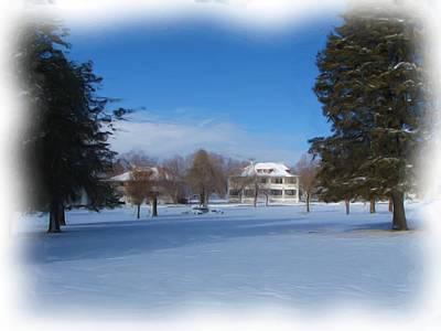 Fort Bayard In Winter Poster by FeVa  Fotos