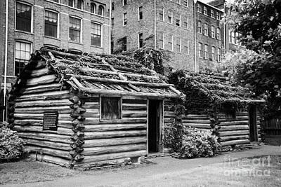 fort nashborough stockade recreation Nashville Tennessee USA Poster by Joe Fox