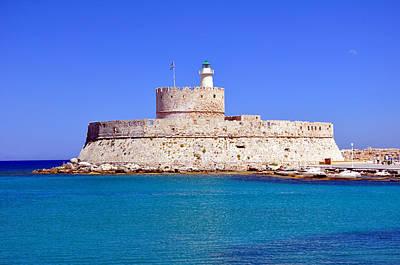 Fort Saint Nicholas In Rhodes. Greece. Poster