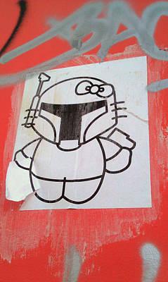 Found Graffiti 26 Boba Kitty Poster by Jera Sky