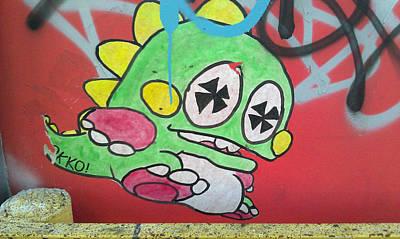Found Graffiti 27 Dino Poster by Jera Sky