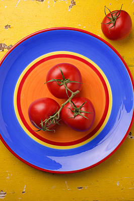 Four Tomatoes  Poster by Garry Gay