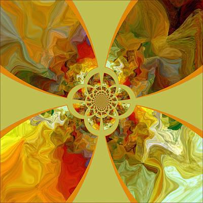Fractal Floral Poster by Bonnie Bruno