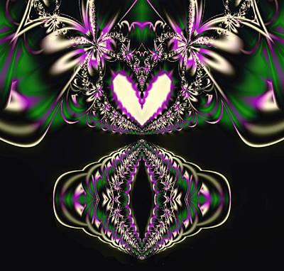 Fractal Kaleidoscope Heart Poster