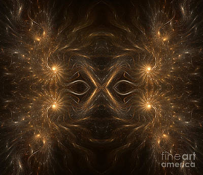 Fractal Masquerade Poster by Janeen Wassink Searles