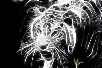 Fractal Tiger Poster by Sheri Bartay