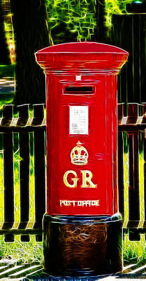 Fractalius Pillar Box Poster by Chris Thaxter