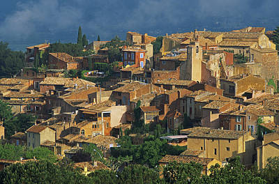 France, Provence, Vaucluse, Roussillon Village Poster by Bruno Morandi