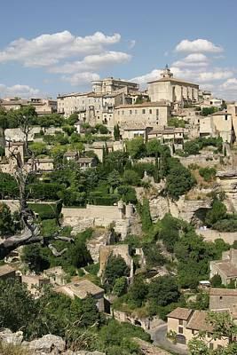 France, Provence, Village Of Gordes Poster by Jimmy Legrand