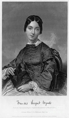 Frances Sargent Osgood (1811-1850). American Poet. Engraving From A Painting By Alonzo Chappel, C1873 Poster by Granger