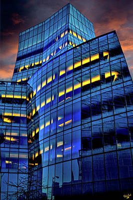 Frank Gehrys Iac Building Poster by Chris Lord