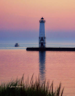 Poster featuring the photograph Frankfort Lighthouse by Joan Bertucci