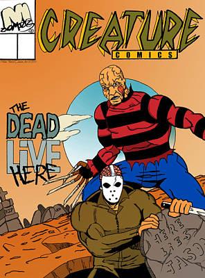 Freddy Vs Jason Poster by Mista Perez Cartoon Art