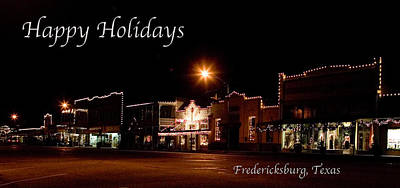 Fredericksburg Lights Poster by Jim  Arnold