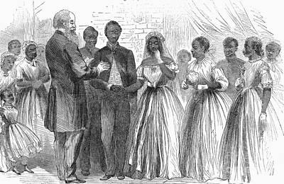 Freedmen: Wedding, 1866 Poster
