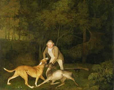 Freeman - The Earl Of Clarendon's Gamekeeper Poster by George Stubbs