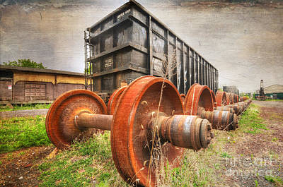 Freight Car And Axels Poster by Paul Ward
