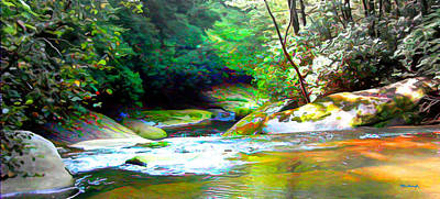 French Broad River Filtered Poster