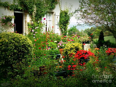 French Cottage Garden Poster