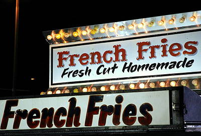 French Fries Sign Poster by Valentino Visentini