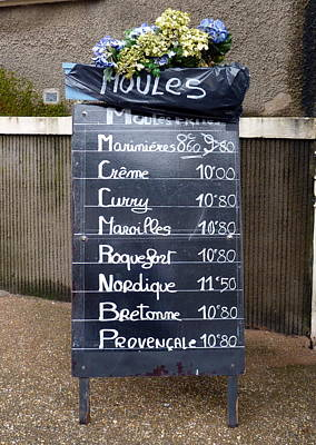 French Mussels Poster by Carla Parris