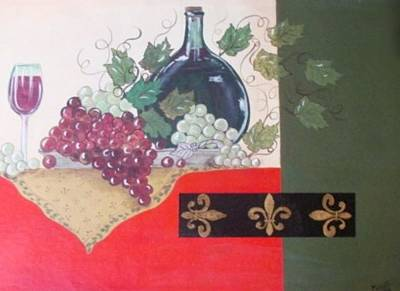 French Wine Poster by Cindy Micklos