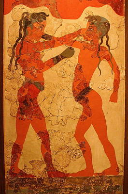 Fresco Of Boxing Children Poster by Laurel Talabere