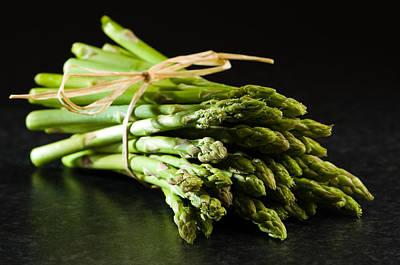 Fresh Asparagus Tips Poster by Amanda Elwell