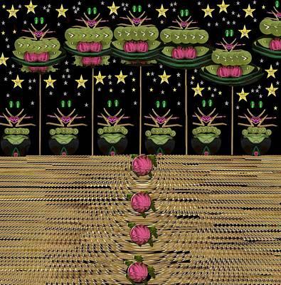 Frogs Singing In The Dark Night Poster