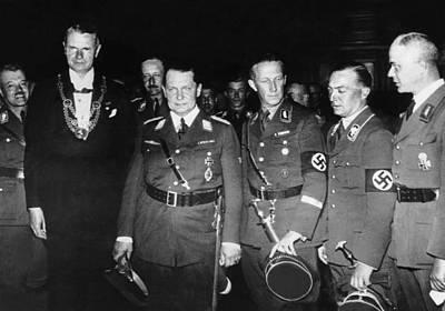 From Left, Nazi Officials Georg Von Poster by Everett