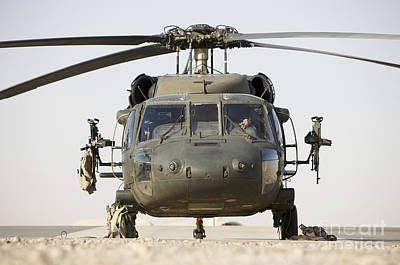Front View Of A Uh-60l Black Hawk Poster by Terry Moore
