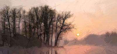 Frosty Morning At The Lake Poster by Steve K