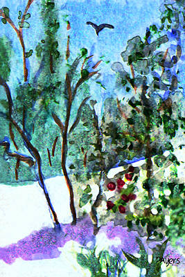 Poster featuring the painting Frosty Morning by Paula Ayers
