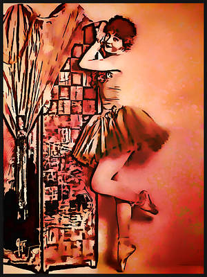 Poster featuring the mixed media Frou Frou by Mary Morawska