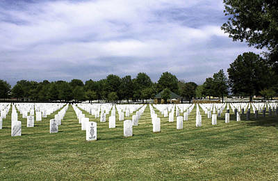 Ft Smith National Cemetery Poster by Leroy McLaughlin