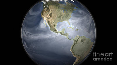 Full Earth View Showing Water Vapor Poster by Stocktrek Images