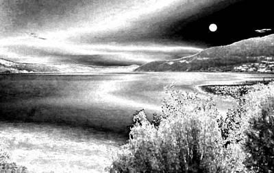 Full Moon In Winter Poster