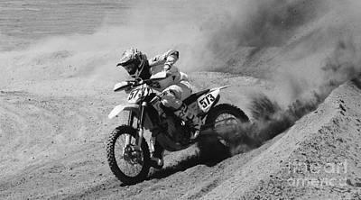 Full Throttle Monochrome Poster by Bob Christopher