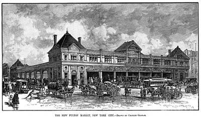 Fulton Fish Market, 1882 Poster