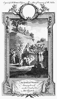 Funeral Pyre, 18th Century Poster by Granger