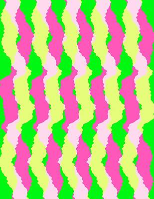 Funky Stripes Poster by Louisa Knight