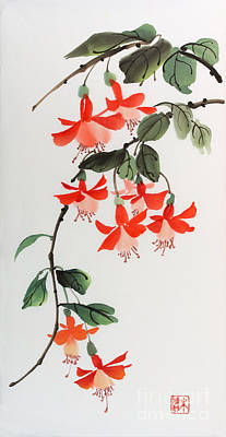 Poster featuring the painting Fuschia by Yolanda Koh