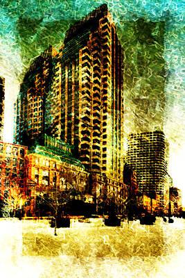 Poster featuring the digital art Futurecraper by Andrea Barbieri