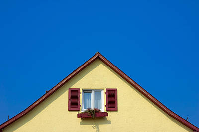 Gable Of Beautiful House In Front Of Blue Sky Poster by Matthias Hauser
