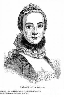 Gabrielle-emilie Chatelet Poster by Granger
