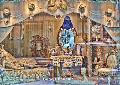 Gaga's Boudoir II Poster by Chuck Kuhn