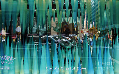 Gaga's Crystal Cave Iv Poster by Chuck Kuhn