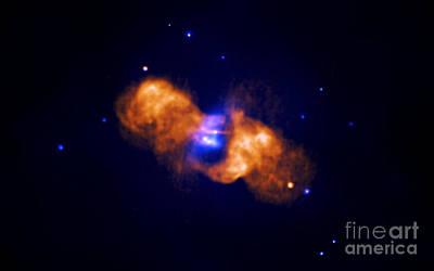 Galaxy Collision Poster by Nasa