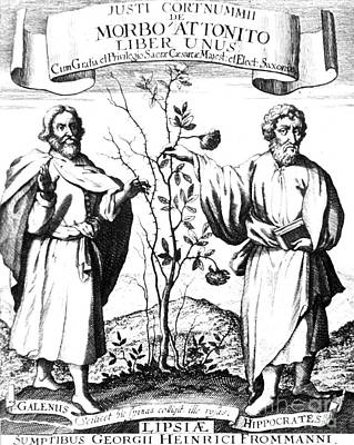 Galen And Hippocrates, Greek Physicians Poster by Science Source