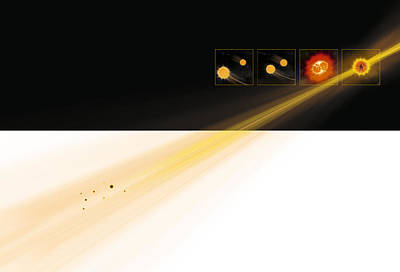 Gamma Ray Burst Formation Poster by Claus Lunau